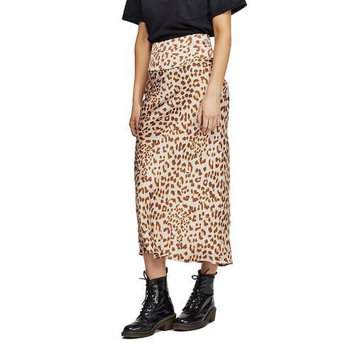 Free People Women's Normani Bias Print Skirt