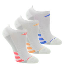 adidas Women's Superlite Stripe II 3-Pack No Show Socks