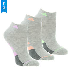 adidas Women's Cushioned II 3-Pack Low Cut Socks