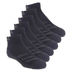 adidas Kids' Cushioned Angle Stripe 6-Pack Low Cut Socks