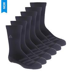 adidas Kids' Cushioned Angle Stripe 6-Pack Crew Socks