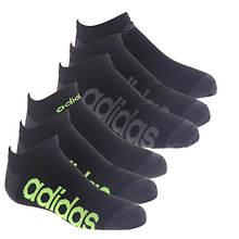 adidas Kids' Superlite Linear 6-Pack No Show Socks