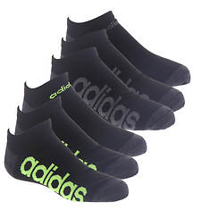 adidas Kids' Superlite Linear 6-Pack No Show Socks