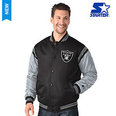 NFL Starter The Enforcer Satin Varsity Jacket