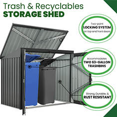 Trash and Recyclables Storage Shed