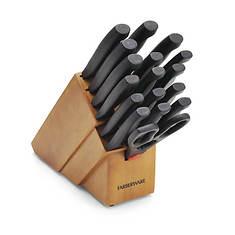 Farberware 18-Piece Never-Sharpen Knife Block Set