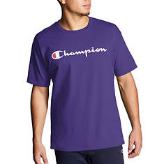 Champion® Men's Graphic Jersey Tee with Script Logo