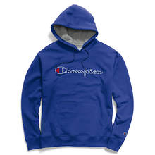 Champion® Men's Powerblend® Fleece Pullover Hoodie w/Script Logo