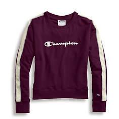 Champion® Women's Heritage Fleece Crew Shirt w/Satin Stitch Logo