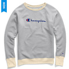 Champion® Women's Powerblend® Fleece Boyfriend Crew w/Script Logo