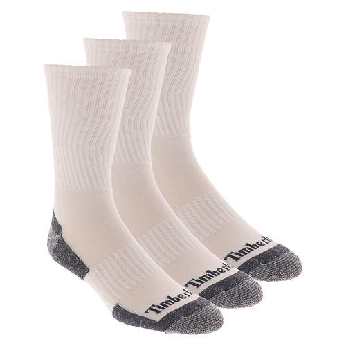 Timberland Men's Textured Foot Crew 3 Pack Socks