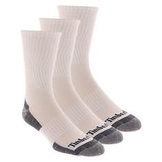 Timberland Men's Textured Foot Crew 3 Pack Socks