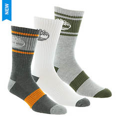 Timberland Men's Varsity Striped Crew 3 Pack Socks