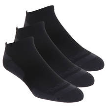 Timberland Men's Textured Foot Low Cut 3 Pack Socks