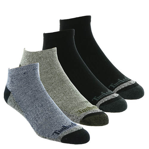 Timberland Men's Comfort No Show 4 Pack Socks