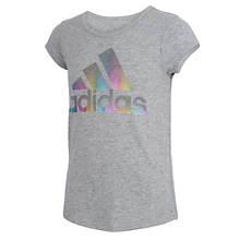 adidas Girls' Scoop Neck Tee
