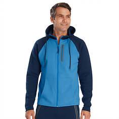 Men's Zip-Front Fleece Colorblock Hoodie