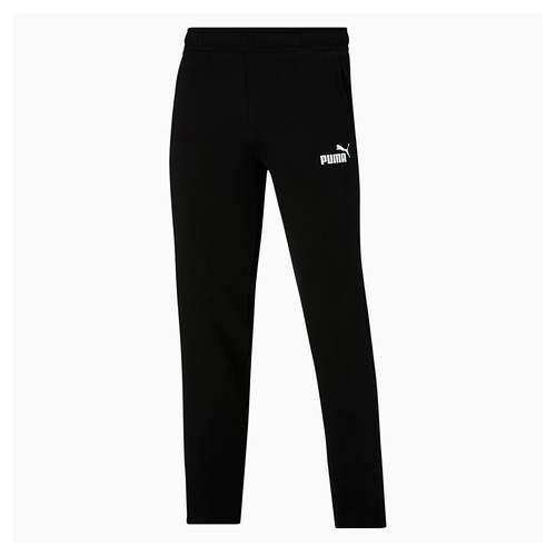 PUMA Men's Essentials Logo Fleece Open Bottom Pants