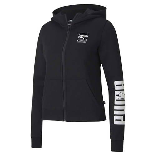 PUMA Women's Rebel Fleece Zip-Up Hoody