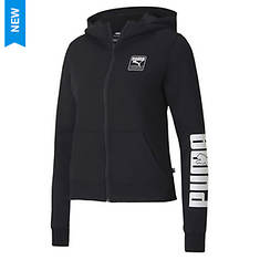 PUMA Women's Rebel Fleece Zip-Up Hoody