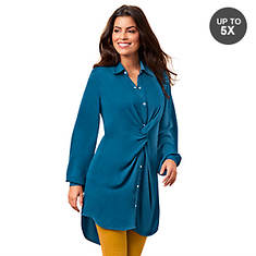 Snap-Front Twist Tunic