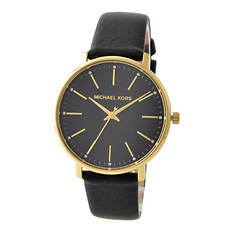 Michael Kors Pyper Black Leather Watch