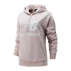 New Balance Women's Essentials Stacked Logo Oversized Pull-Over Hoodie