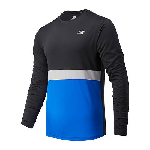 New Balance Men's Striped Accelerate LS