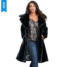 Plush Coat With Satement Lining