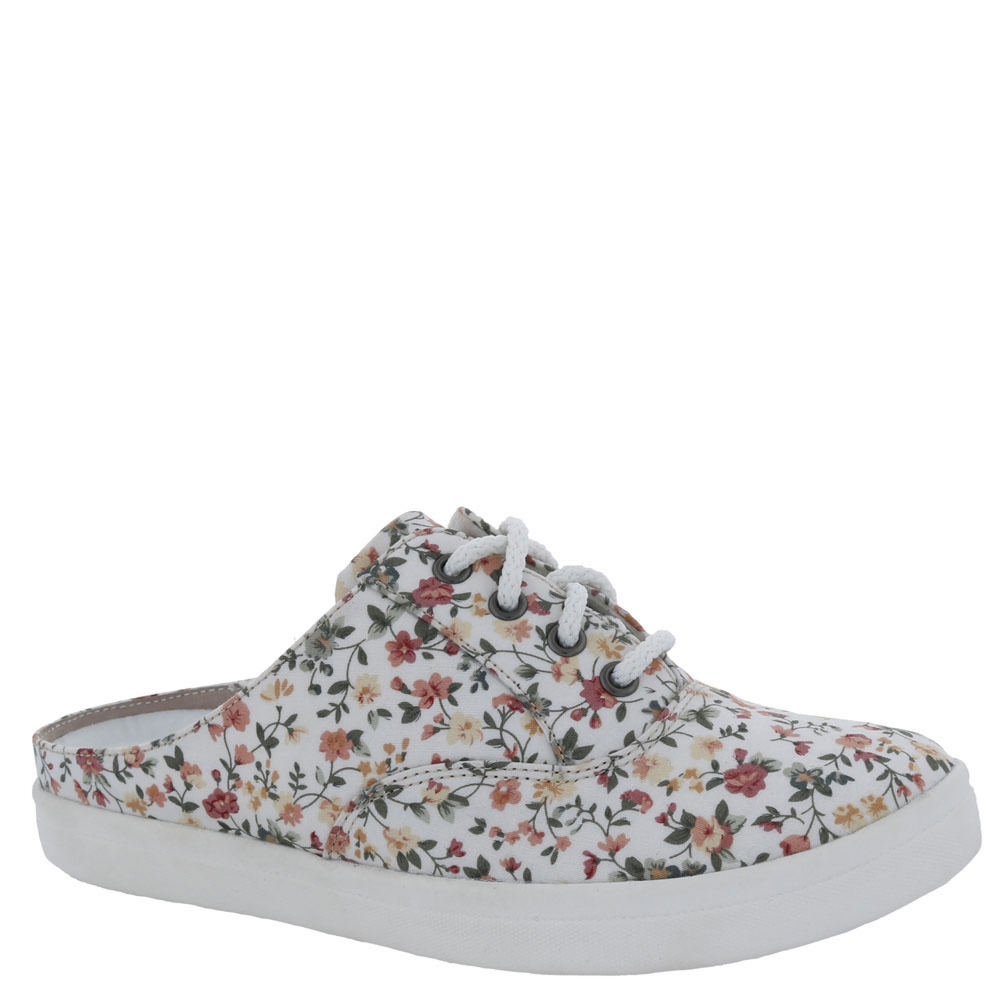 *Floral-print canvas upper *Slip-on style *Removable lightly cushioned footbed *Heel cushion and built-up arch *1\\\