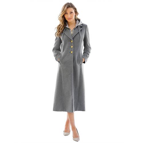 Hooded Sweatshirt Maxi Coat