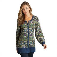 Full-Zip Sweater Tunic