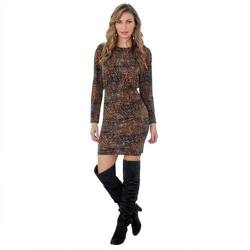 Raglan-Sleeved Bodycon Dress