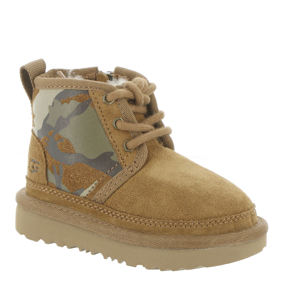 *Suede leather upper with camo-print shaft panels *2.75\\\