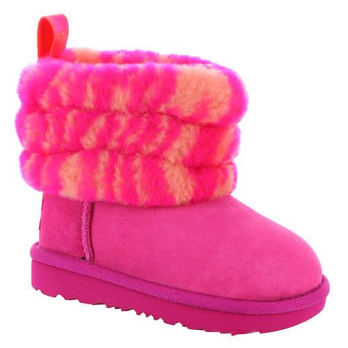 UGG® Fluff Mini Quilted Zebra Toddler (Girls' Toddler)