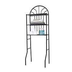 2-Shelf Steel Bathroom Space Saver