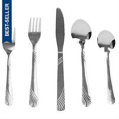 River 20-Piece Stainless Steel Flatware Set