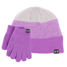 Under Armour Girls' Beanie Glove Combo