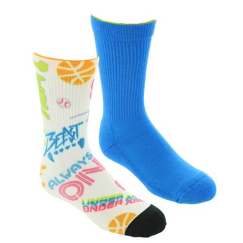 Under Armour Boys' Phenom Novelty Crew 2-Pack Socks