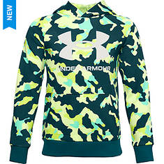 Under Armour Boys' Rival Fleece Printed Hoodie