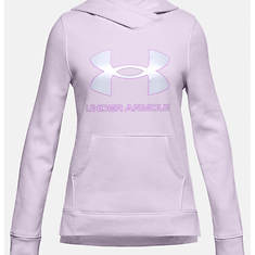 Under Armour Girls' Rival Fleece Logo Hoodie