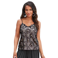 Scalloped Embellished Cami