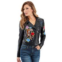Embellished Moto Jacket