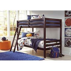 Signature Design by Ashley Furniture Halanton Bunk Bed w/Ladder Twin