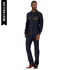 Stacy Adams Men's Button-Front Denim Shirt Set