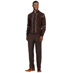 Stacy Adams Men's 1/4-Zip Sweater Set