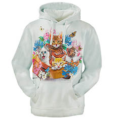 Unisex Animal Print Fleece Hoodie