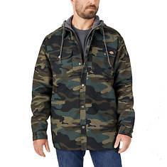 Dickies Men's Fleece Hooded Duck Shirt Jacket w/Hydroshield