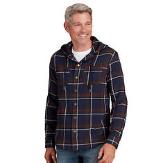 Men's Hooded Flannel Snap-Front Shirt