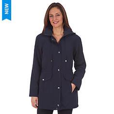 Fleet Street Women's Faux Silk Button Out Anorak Jacket